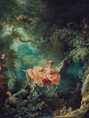 Reproduction oil paintings - Jean-Honore Fragonard - Swing