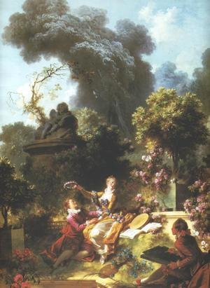 Reproduction oil paintings - Jean-Honore Fragonard - Lover Crowned