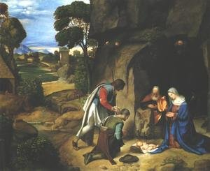 Famous paintings of Caves: Adoration of the Shepherds