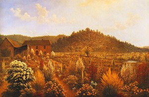 View of the Artist's House and Garden in Mills Plains, Van Diemen's Land