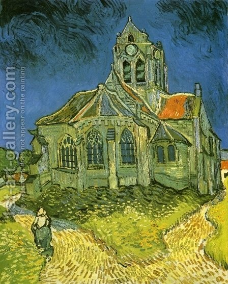 Vincent Van Gogh: Church at Auvers - reproduction oil painting