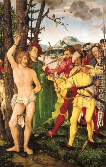 Martyrdom of St. Sebastian by Hans Baldung  Grien - Reproduction Oil Painting