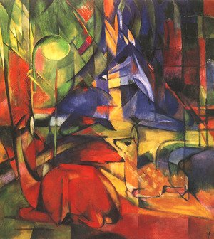 Reproduction oil paintings - Franz Marc - Deer in a Forest II