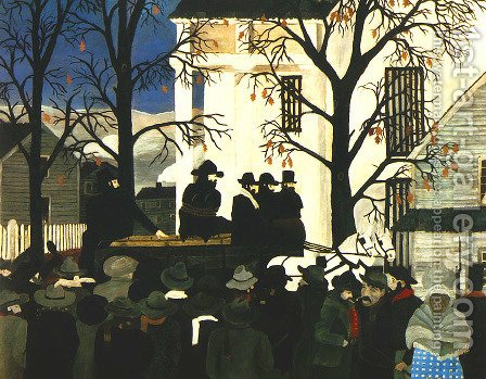 John Brown Going to His Hanging by Horace Pippin - Reproduction Oil Painting