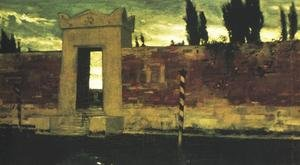 Famous paintings of Cemeteries: Cemetery in Venice