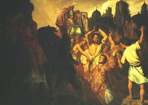 Reproduction oil paintings - Rembrandt - Stoning of St. Stephen