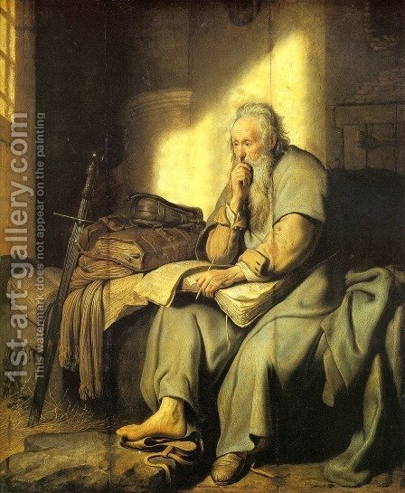 Rembrandt: Apostle Paul in Prison - reproduction oil painting