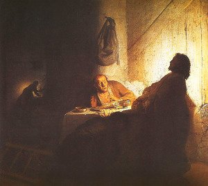 Reproduction oil paintings - Rembrandt - Christ at Emmaus