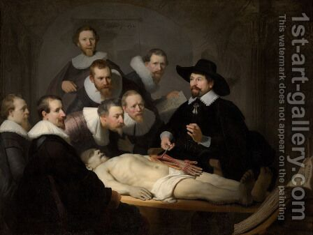 Rembrandt: Anatomy Lesson of Dr Tulp - reproduction oil painting