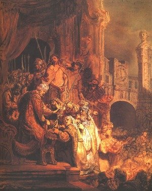 Reproduction oil paintings - Rembrandt - Christ Before Pilate and the People