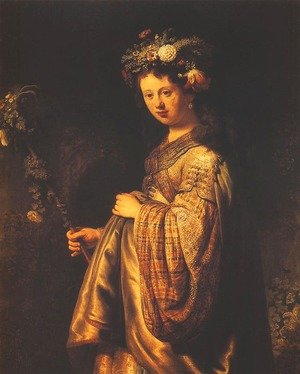 Reproduction oil paintings - Rembrandt - Saskia or Flora