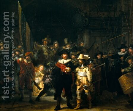 Rembrandt: The NightWatch - reproduction oil painting
