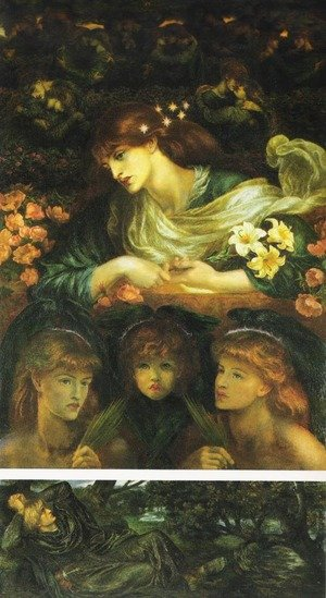 Famous paintings of Fairies: Blessed Damozel
