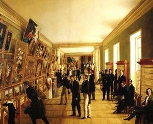 Famous paintings of Paintings of paintings: Fine Arts Exhibition in Warsaw in 1828