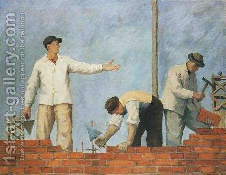 Pass a Brick by Aleksander Kobzdej - Reproduction Oil Painting
