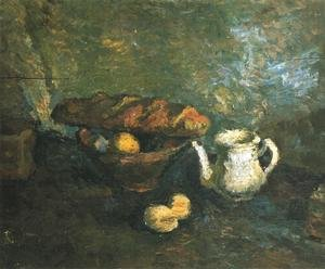 Famous paintings of Teapots: Still Life with a Roll
