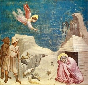 Reproduction oil paintings - Giotto Di Bondone - Joachim's Dream (Sogno di Gioacchino)