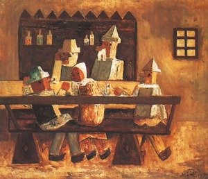 Famous paintings of Taverns: In an Inn