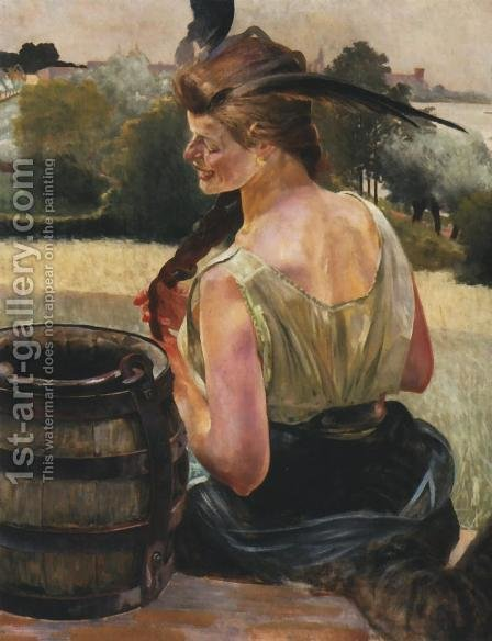 By the Well by Jacek Malczewski - Reproduction Oil Painting