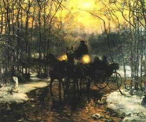 Reproduction oil paintings - Alfred Wierusz-Kowalski - Journey in a Carriage