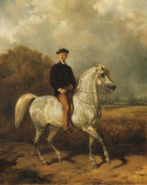 Famous paintings of Men: Portrait of a Man on Horseback