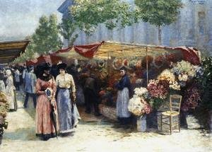 Flower Market Outside the Madeleine Church