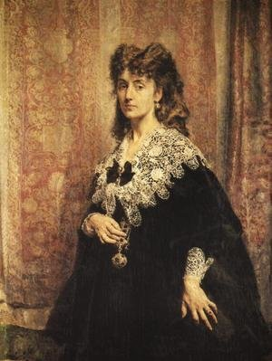 Reproduction oil paintings - Jan Matejko - Portrait of Maria Puslowska