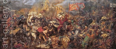 Jan Matejko: Battle of Grunwald - reproduction oil painting