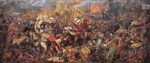 Famous paintings of Horses & Horse Riding: Battle of Grunwald