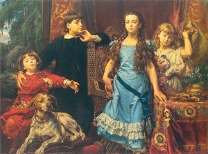 Jan Matejko reproductions - Artist's Children