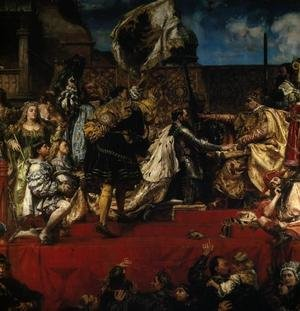 Reproduction oil paintings - Jan Matejko - Prussian Tribute