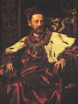 Reproduction oil paintings - Jan Matejko - Portrait of Jozef Szujski