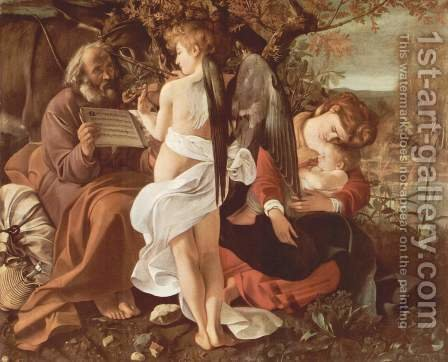 Caravaggio: Rest on the Flight into Egypt (Riposto durante la fuga in Egitto) - reproduction oil painting