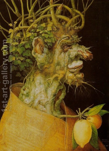 Winter (L'Inverno) by Giuseppe Arcimboldo - Reproduction Oil Painting