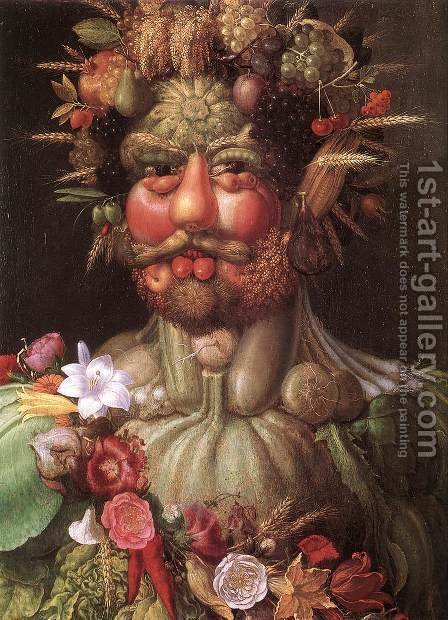 Giuseppe Arcimboldo: Vortumnus (Vertumno) - reproduction oil painting