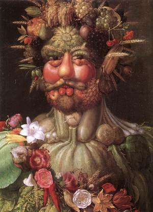 Famous paintings of Vegetables: Vortumnus (Vertumno)