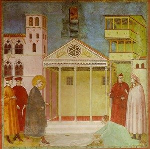 Reproduction oil paintings - Giotto Di Bondone - Homage of a Simple Man (Omaggio di un semplice)