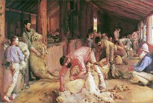 Famous paintings of Domestic Animals: Shearing the Rams