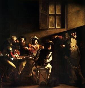 Famous paintings of Religion & Philosophy: Calling of St. Matthew (Vocazione di san Matteo)