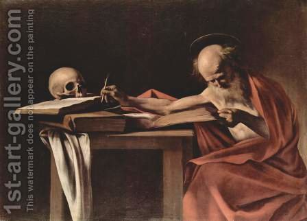 Caravaggio: St. Jerome (San Gerolamo) - reproduction oil painting
