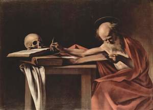 Reproduction oil paintings - Caravaggio - St. Jerome (San Gerolamo)