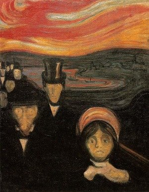 Reproduction oil paintings - Edvard Munch - Anxiety