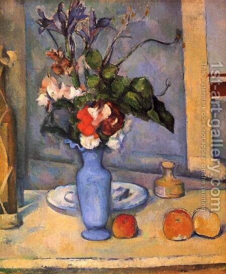 Blue Vase by Paul Cezanne - Reproduction Oil Painting