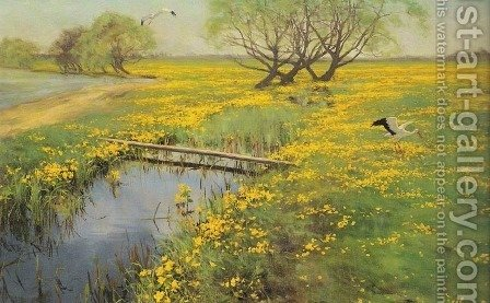 Spring by Henryk Weyssenhoff - Reproduction Oil Painting