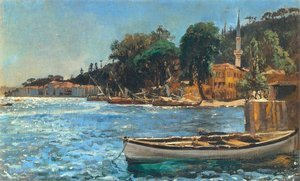 Reproduction oil paintings - Jan Matejko - View of Bebek near Constantinople