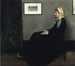 Reproduction oil paintings - James Abbott McNeill Whistler - Arrangement in Grey and Black- Portrait of the Artist's Mother  1871