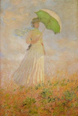 Famous paintings of Parasols and Umbrellas: Lady with a Parasol