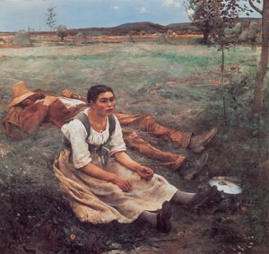 Reproduction oil paintings - Jules Bastien-Lepage - Haymakers