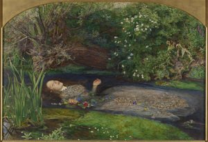 Famous paintings of Trees: Ophelia  1851-52