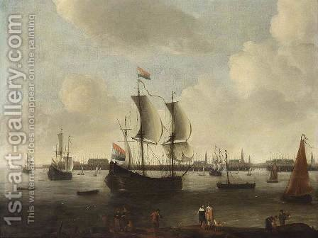 Extensive View of a City 1650-55 by Hendrik van Minderhout - Reproduction Oil Painting